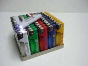 Зажиг Пьезо с фонариком CL-04 (FD024) цветной газ 1*50*20